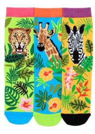 Oddsocks - Mismatched Gekke Sokken - Jungle Annie - 3 sokken - maat 37 tot 42