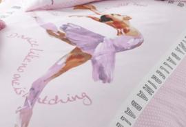 Ballerina danseres dekbedovertrek  Roze eenpersoons met 1 kussensloop