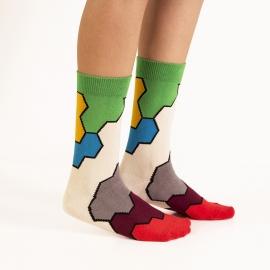 Ballonet Molecule dames sokken mt  36 - 40 kleurige vakken