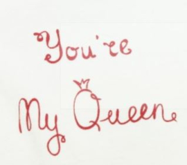 Ducky Beau romper You're My Queen - Ivoorkleur  - maat 62