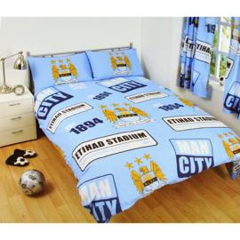 Manchester City Football Club dekbedovertrek emblemen TWEEPERSOONS