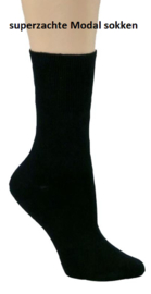 Superzachte Modal comfort sokken, 3 paar zwart, non elastic boorden en handgenaaide teennaad, mt 39/42