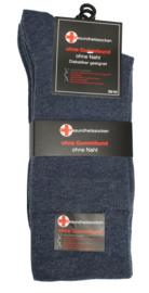 Diabetes sokken 3 paar jeansblauw met non elastic boorden en handgenaaide teennaad mt 43 - 46