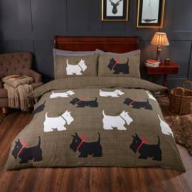 Dieren dekbedovertrek -  Schotse Terrier - 2 persoons met 2 kussenslopen