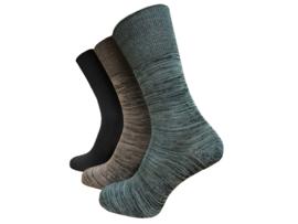 Set van 3 paar bamboe sokken, mix kleuren, maat 39-45