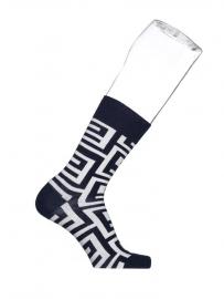 Bonnie Doon Labyrinth heren sokken marine met wit  mt 40 - 46