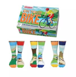 Oddsocks - Cadeaudoos met 6 verschillende fiets sokken - On Your Bike - maat 39-46