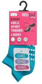 Antislip sport sokken -yoga - pilates - gym - maat 31/36 - set van 3 paar pastel