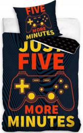 Gamer Dekbedovertrek Just Five More Minutes - eenpersoons met kussensloop