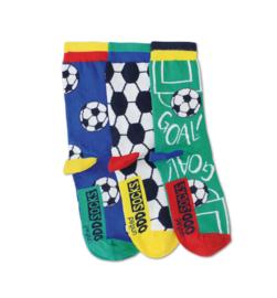 Oddsocks - Gekke Mismatched Sokken - Goal - 3 sokken - maat 31 tot 39
