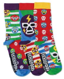 Oddsocks - Mismatched verschillende sokken - Mask - 3 sokken - maat 31 tot 38