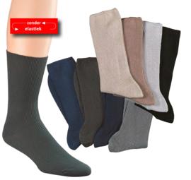Diabetes sokken 5 paar effen non elastic boorden en handgenaaide teennaad mt 43-46  kleur A