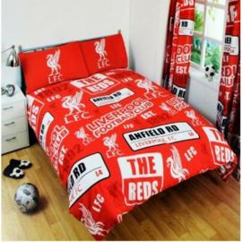 Liverpool FC voetbal Patch dekbedovertrek tweepersoons met 2 kussenslopen