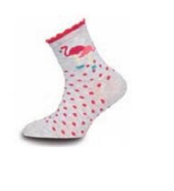 Ewers sokken Flamingo grijs roze mt 35-38