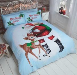 Kerst dekbedovertrek One More Sleep Lits Jumeaux