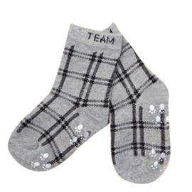 4680 antislip sokken grijs geruit maat 18-23