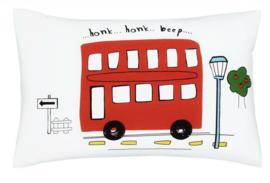 Voertuigen eenpersoons dekbedovertrek - auto's, dubbeldekker bus, camper - met 1 kussensloop