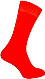 Felgekleurde rode neon Rock'n Roll sokken maat 35 - 41