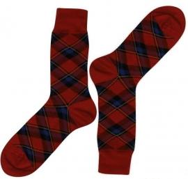 Bonnie Doon Plaid Check Carmine heren sokken mt 40 - 46