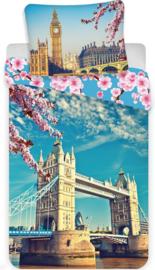 Londen Tower Bridge eenpersoons dekbedovertrek met kussensloop