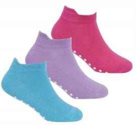 Antislip sport sokken -yoga - pilates - gym - maat 27/30 - set van 3 paar pastel