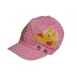 Zonnecap Winnie the Pooh gestippeld - maat 3/5 jaar en 6/8 jaar