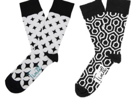 Zwart Wit - set van 2 paar sokken - maat 41 - 46