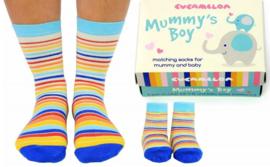 Cadeaudoosje met Moeder Zoon sokken - Mummy's boy