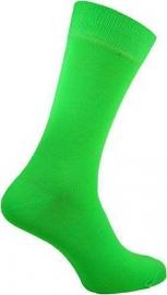 Heren gifgroene neon Rock 'n Roll teddy sokken in maat 39 - 46