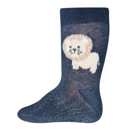 Antislip sokken Ewers krabbelfix leeuw tdonkerblauw - maat 19-22