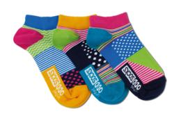Oddsocks - Mismatched Gekke Sokken - 3 sneaker sokken - veelkleurig - maat 37 tot 42