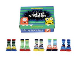 Cadeaudoosje met 5 paar kindersokjes - 2/4 jaar - Little Nippers