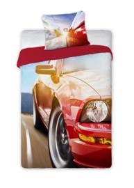 Sportauto  / sportwagen dekbedovertrek Rood