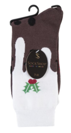 Kerst sokken Christmas Pudding maat 37 - 42