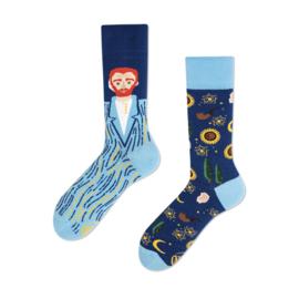 Many Mornings Mismatched sokken - Van Gogh - maat 39 - 42