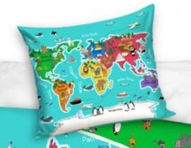 Wereldkaart dekbedovertrek Geography
