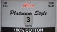 B keus 100% katoenen sokken met zachte boorden, set van 3 paar mt 36-41