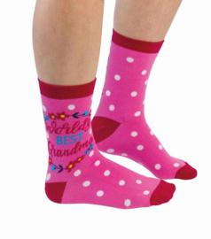 Oma sokken - World's best Grandma - maat 37/42