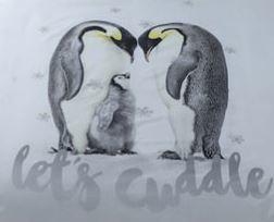 Dieren dekbedovertrek - Pinguins  Lets Cuddle - Lits-jumeaux