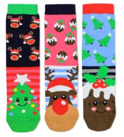 Oddsocks - Kerst Mismatched Gekke Sokken - Angel - 3 sokken - maat 37 tot 42