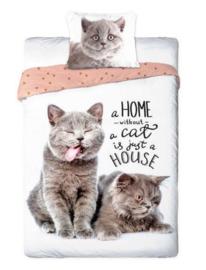Dieren dekbedovertrek - Best Friends  - 2 poezen / katten
