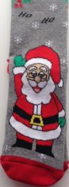 Kerst sokken Santa Ho Ho met lurex maat 36 - 40