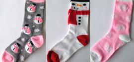 Winter afbeelding sokken set van 3 paar - maat 35 - 39