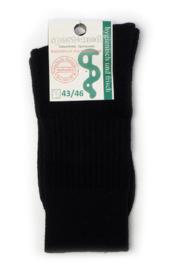 Diabetes sokken, 1 paar zwart, non elastic boorden en handgenaaide teennaad, mt  43/46