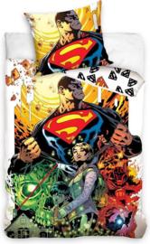 Superman dekbedovertrek eenpersoons met 1 kussensloop