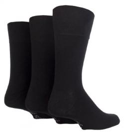 Diabetes heren sokken 3 paar effen sokken BIGFOOT met zachte boorden GROTE maat , mt 46 - 50