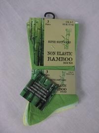 Set van 3 paar bamboe viscose dames sokken, green mix, maat 37-42