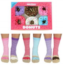 Oddsocks - Gekke Sokken - Donuts  - 6 sokken - maat 37 tot 42