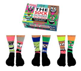 Out of Office sokken - Oddsocks  - 6 verschillende mismatched sokken  - maat 39-46