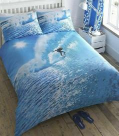Watersport Ocean Surfer dekbedovertrek lits-jumeaux met 2 x kussensloop
